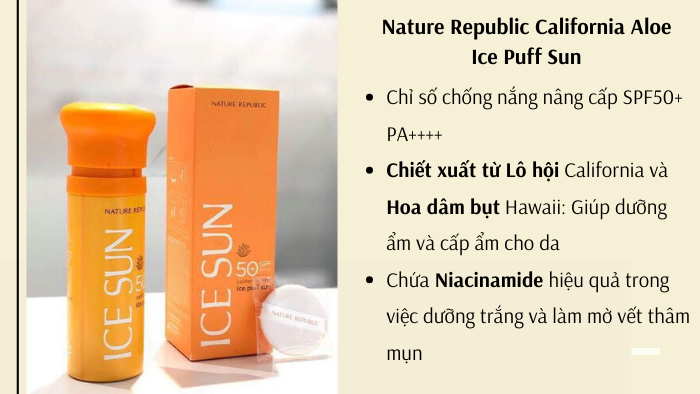 Nature Republic California Aloe Ice Puff Sun